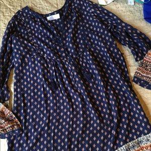 TIME and TRU tunic shift boho dress size XL 16 18